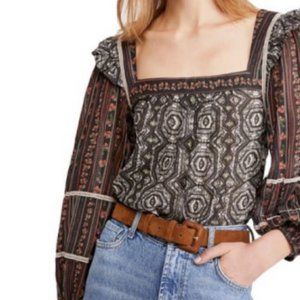 Free People NWT Mostly Meadow Blouse Size M
